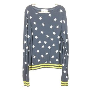 WildFox Seeing Stars Long Sleeve Oversized Top